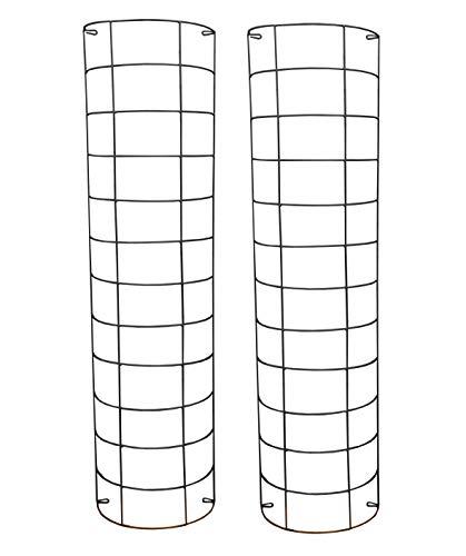 Large Metal Tube Trellis Semi Circular for Drainpipes (Set of 2)