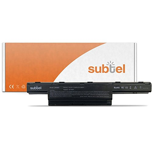 subtel Qualitäts Akku (4400mAh) für Acer Aspire/Travelmate AS10D31/AS10D41/AS10D51/AS10D61/AS10D71/AS10D81 Notebookakku Laptopakku Ersatzakku Batterie