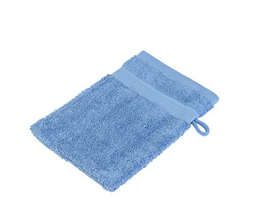 Gözze, lot de 4 gants de toilette bleu marine, 17x24 cm , 100% coton, excellente qualité 550 g/m², moelleux et utra doux Standard 100
