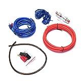 LJQSS Firma 1set New 10ga Power Cable de alimentación 60A Soporte de Fusible Subwoofer Altavoz Audio Audio Audio RCA Altavoz de Alambre Amplificador Instalación Instalación Kit Durable (Size : 1 Set)