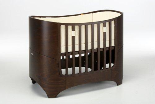 Leander Baby- und Kinderbett, Buche Walnuss lasiert