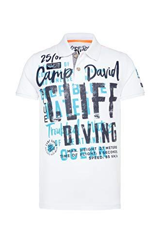 Camp David Herren Poloshirt aus Pikee mit XL-Artwork