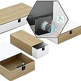 ILS - Cajón para ropa con cerradura de cajón y huella digital inteligente completamente automática