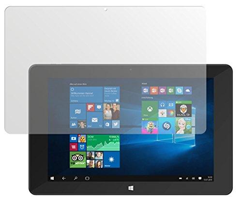 dipos I 2X Schutzfolie matt kompatibel mit TrekStor SurfTab Duo W1 Volks-Tablet Folie Displayschutzfolie