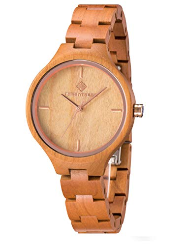 Amexi Reloj de Madera para Mujer,...
