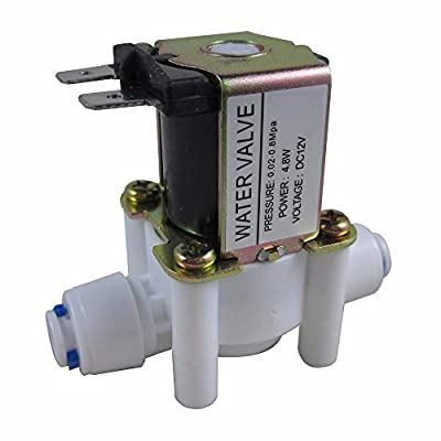 """ZAOJIAO 1/4"""" DC 12V N/C Normally Closed Inlet Water Solenoid Valve Quick Connect by ZAOJIAO"""