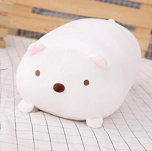 Stuffed Animals 30/60cm Cute Fat Dog Cat Totoro Penguin Pig Frog Plush Toy Soft Cartoon Animal Pillow Cushion Stuffed Lovely Dolls for Kids Gift-white-30cm