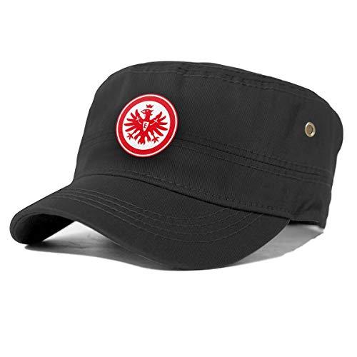 Bericher Eintracht Frankfurt Adult Flat Cap Herren Baumwolle Army Kappe Cadet Hat Military Flat Top Verstellbare Baseballmütze Black 69040183