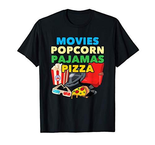Movies Popcorn Pyjamas Pizza - Funny Snack Lover Camiseta