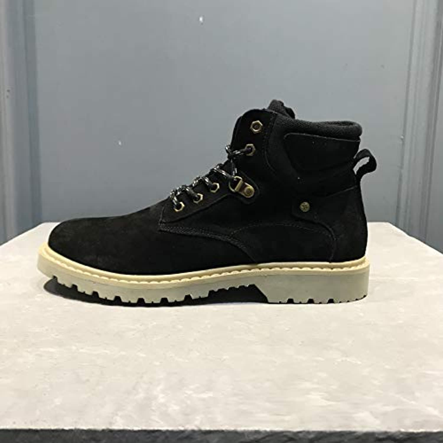 LOVDRAM Boots Men's Autumn And Winter Men'S High-Top Casual shoes Boots Martin Boots Men