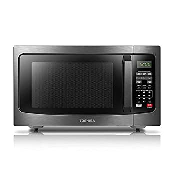 Toshiba EM131A5C-BS Microwave Oven with Smart Sensor Easy Clean Interior ECO Mode and Sound On-Off 1.2 Cu ft Black Stainless Steel