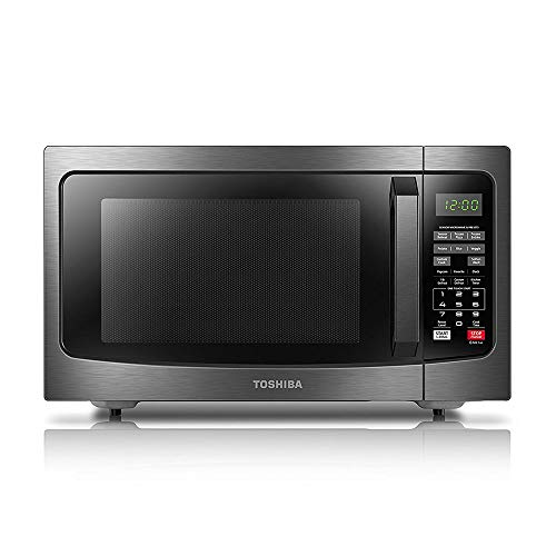 Toshiba EM131A5C-BS Microwave Oven with Smart Sensor Easy Clean Interior, ECO Mode and Sound On-Off, 1.2 Cu.ft, Black Stainless Steel, Cu Ft