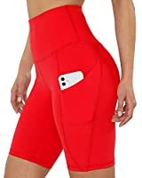 beroy Womens Mid-Rise Active Compression Mesh 2 in 1 Training Running Shorts