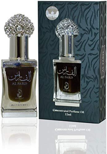 Aceite Perfumado Al Faris 12ML Oud Arab Attar 100% Óleo Sin Alcohol Almizcle Halal Para Hombres y Mujeres Fragancia de Larga Duración Nota : Almizcle, Vainilla, Limón, Ambar, Jazmín