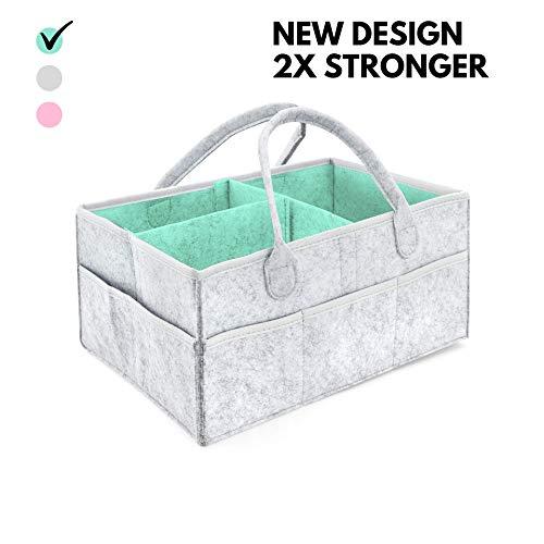 Pañalera CON BOLSO GRATUITO - Compartimientos para guardar pertenencias del bebé   Cesta de regalo para fiesta de nacimiento, Registro de recién nacidos, Cesta organizadora para la habitación
