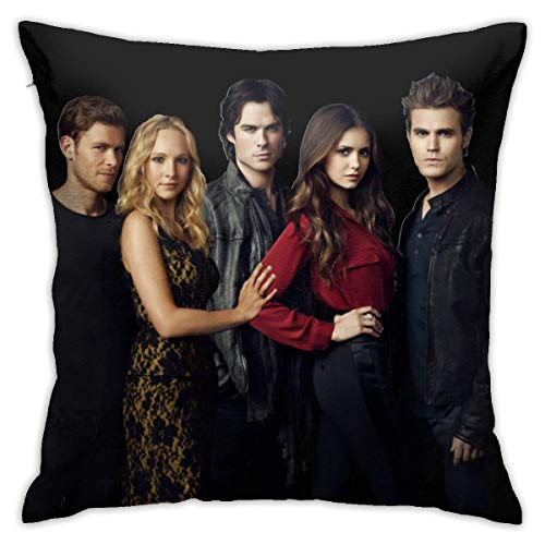 Lsjuee The Vampire Diaries Square Sea Throw Pillow Case Fodera per Cuscino Home Sofa Decorativo 18 'x18' Pollici Ultra Soft Confortevole Traspirante Durevole