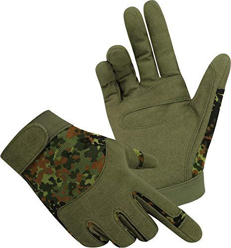 normani Tactical Army Gloves Herrenhandschuhe aus Spezialkunstleder Farbe Flecktarn Größe M