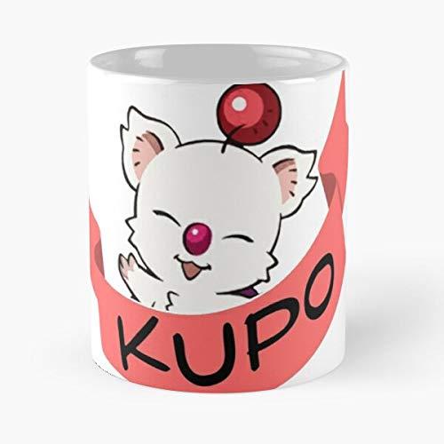 FashionNut Moogle Final Mug Fantasy Essen Sie Essen Biss John Best 11oz Unze weiße Keramik Kaffeebecher