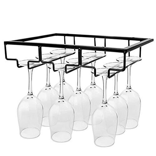 sun gurg Weinglashalter, Gläserhalter Edelstahl zum Aufhängen Glashalter Weinregale Weinglashalterung mit Schrauben 3 Reihen Gläserhalterung für Bar Küche Café (Schwarz)
