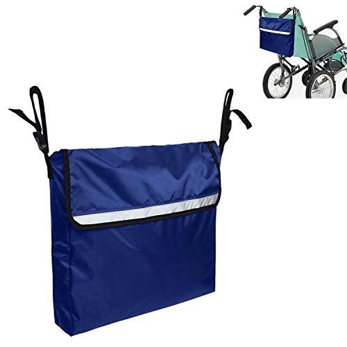 Zhouzl Hogar & Jardín Bolsa de Almacenamiento para Colgar de Almacenamiento Las sillas de Ruedas para minusválidos Coche Bolsa Hogar & Jardín (Color : Blue)