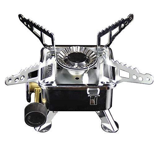 Mini estufa de gas plegable, estufa de cassette, para
