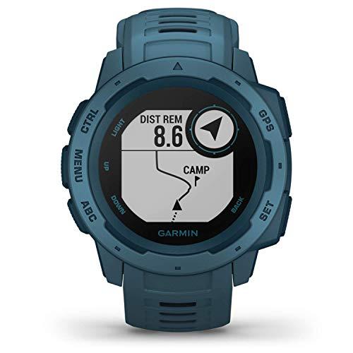 Garmin Instinct Lakeside Blue Sportwatch GPS, Regular, Blu