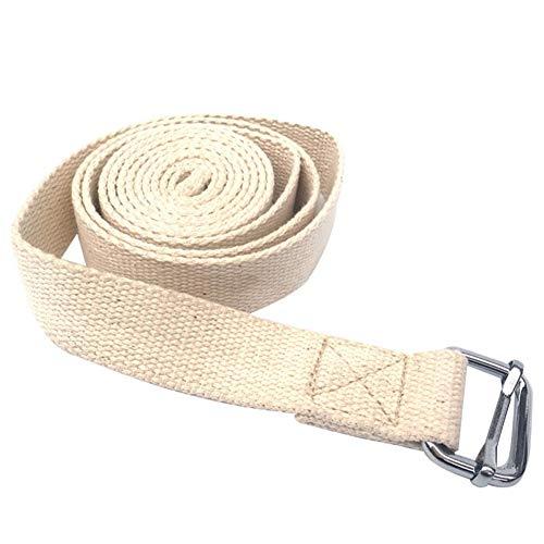 Felenny - Banda de resistencia de yoga con aleación de zinc doble hebilla de algodón puro para yoga, ejercicio de resistencia, cuerda de gimnasio Fitness muñeca Relax fortalecedor entrenamiento