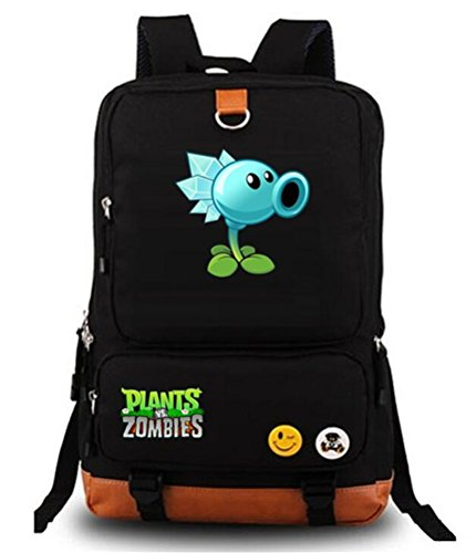 Siawasey Cute Plants Zombie Hot Game Bookbag Mochila escolar