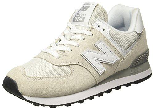 New Balance Mujer 574v2 Core, Zapatillas Blanco (White), 37 EU