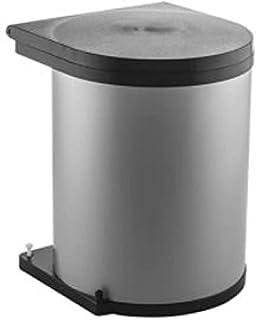 Wesco 010 112-11 - Cubos de instalación wesco redonda, 11l, plata/negro