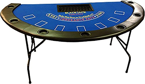 71'' Blackjack Table with Folding Legs (Blue Felt)