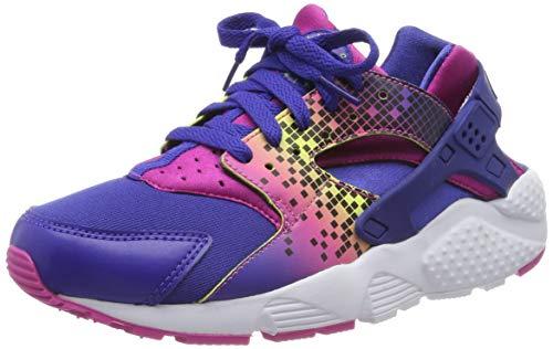 Nike Huarache Run Print GS 704946-500, Scarpe da Corsa Unisex-Bambini, Nero/Rosa (NGHT DP/DP NGHT-fr Pnk-Brght C), 38 EU