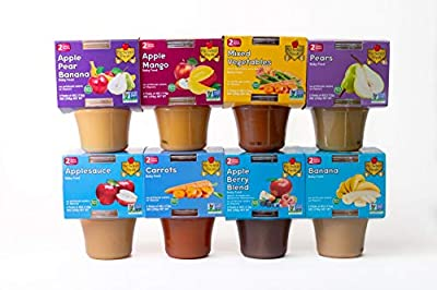 Pic Select Fresh All-Natural Baby Food, 8 Pack, 2nd Stage, 2 pack tub,16 (4 ounces) , MIXED FLAVOR