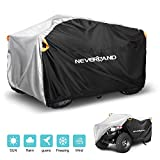 NEVERLAND ATV Cover,Waterproof Heavy Duty Double-sided Available Reflective Striping Adjustable Buckle Strap Windproof Quad Cover for Sun Dust UV Protection 190T XL Black Silver (210*120*115cm)