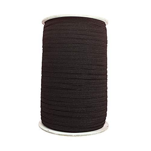 Trimming Shop zwart & wit - 12mm brede platte geweven elastische band voor naaien, breien, taillebanden en kunst & ambacht