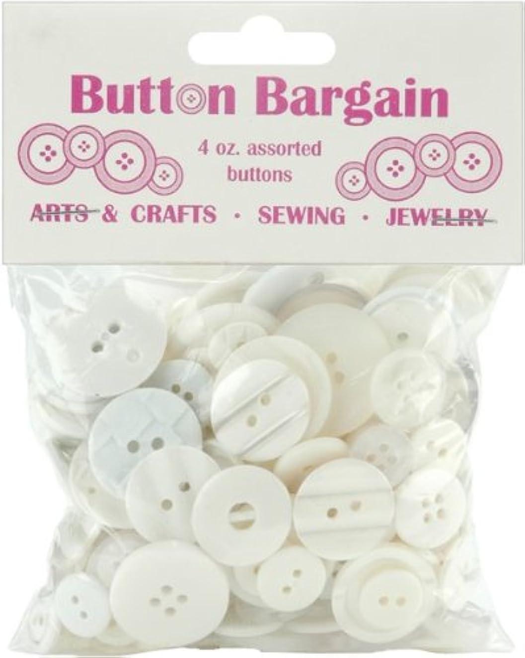 Creative Impressions 20002 Button Bargain, 4-Ounce, White