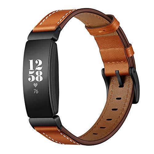 Dee Plus Compatibile con Fitbit Inspire /Fitbit HR /Inspire 2 Braccialetto di Ricambio in Pelle, con Sgancio Rapido, Accessori Orologio, Cinturino da Polso Orologio Fitness Ricambio Accessori