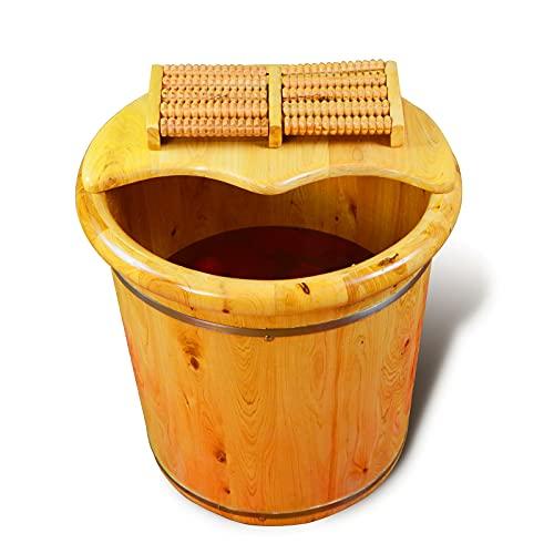 Foot Tub, Cypress Wood Foot Basin Tub Bucket For Foot Bath, Massage, Spa, Sauna, Soak,foot Bath Wooden Bucket Foot Spa Household Wash Basin