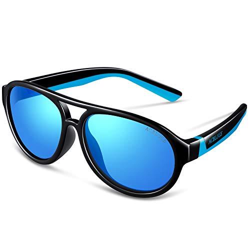 ACBLUCE Gafas de sol deportivas polarizadas con marco TPEE y correa ajustable para niños y niñas de 6 a 12 años