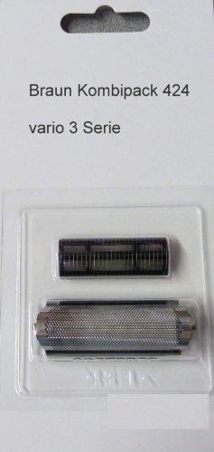Braun Kombipack 424 Scherblatt + Messer Micron Vario3 3011 3020 3025 Scherkopf