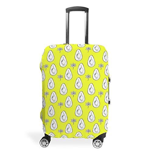 Knowikonwn Avocado Reisegepäckabdeckung, süße Früchte, 3D-Druck, 4 Größen für viele Koffer, weiß (Weiß) - Knowikonwn-scc