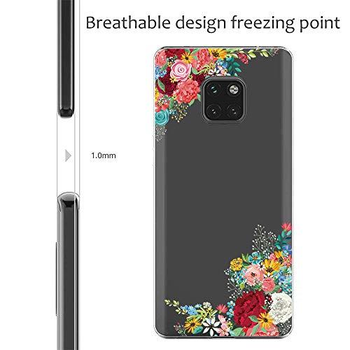 Handyhülle Kompatibel mit Huawei Mate 20 Pro Hülle,Huawei Mate 20 Case TPU Transparent Silikon Flexibel Ultra dünn Weicher Bumper Anti-Scratch Case für Mate 20 Lite Hülle (Huawei Mate 20, 6) - 5