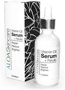 ALOA Skincare Vitamin CE Serum Ferulic with Hyaluronic Acid 2oz Anti Aging Firming Brightening product image