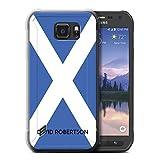 eSwish Personalisiert Persönlich National Nation Flagge 2 Gel/TPU Hülle für Samsung Galaxy S6 Active/G890 / Schottland/Schottisch Design/Initiale/Name/Text Schutzhülle/Hülle/Etui