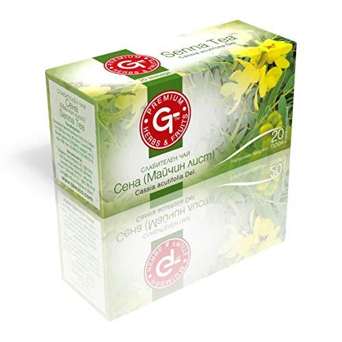 (4 Pack) Senna Tea Fruit & Leaves 30g Natürliches Abführmittel   BteaCo für Kuker Detox Tea 20 Teebeutel   Eingesackter Tee   Natürliche diätetische Darmreinigung   Weight Loss Aid   Koffeinfrei