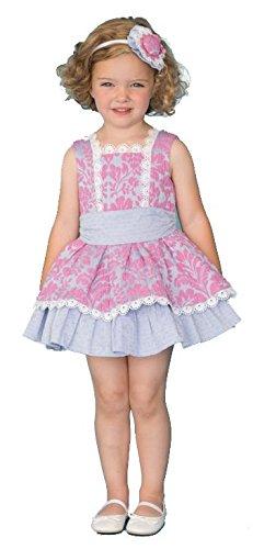 DOLCE PETIT - Vestido bebé-niños Color: Rosa-Gris Talla: 5