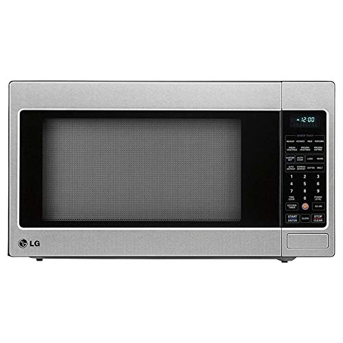 LG LCRT2010ST Electronic Digital 2.0 Cubic Foot Stainless Steel Countertop Microwave Oven, Silver/Black (Certified Refurbished)