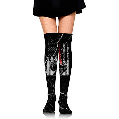 Jesse Tobias Caza de pavo Bandera americana Chicas Calcetines sexy hasta el muslo Medias altas hasta la rodilla