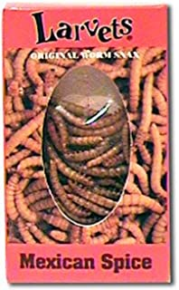 Larvets Original Worm Snax- Mexican Spice-6 packs
