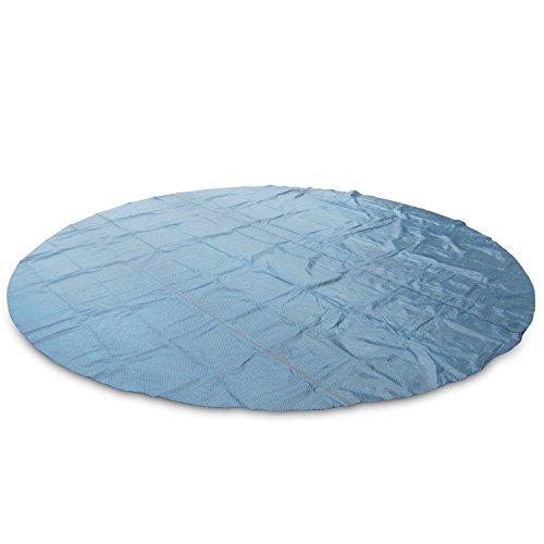 Miganeo® 400 cm Premium Solarplane schwarz/blau rund Poolheizung für Pool